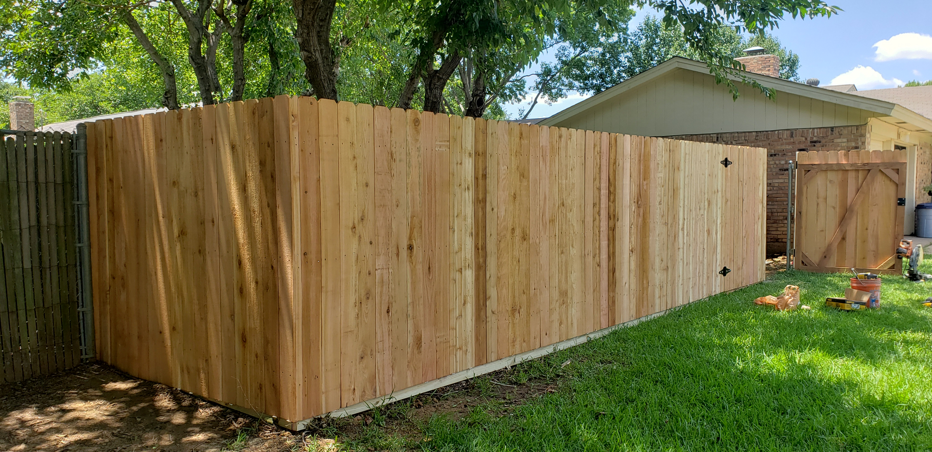 6ft Side-by-Side Cedar wood fence