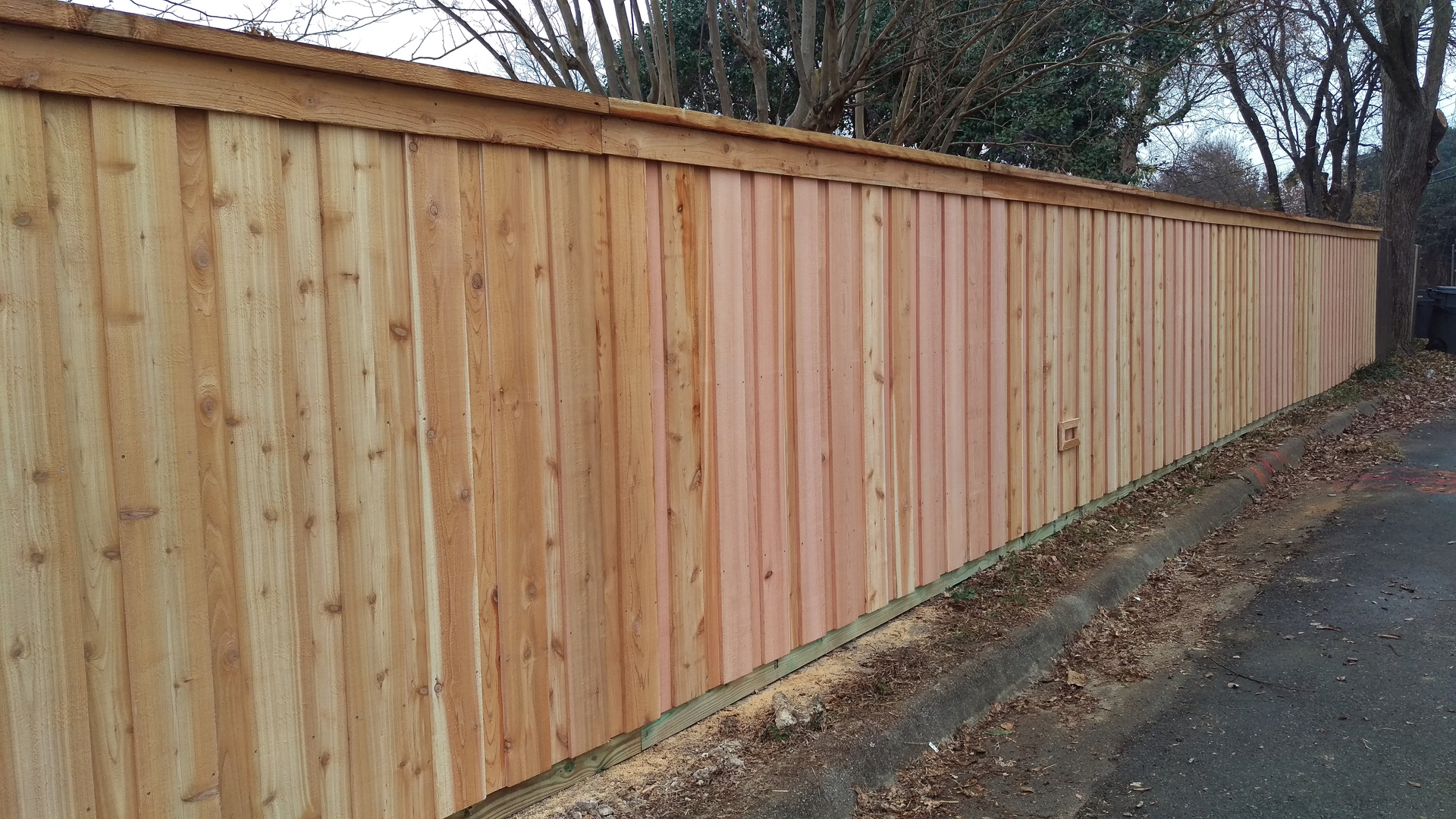 6ft Cedar Board-on-Board style fence replacement