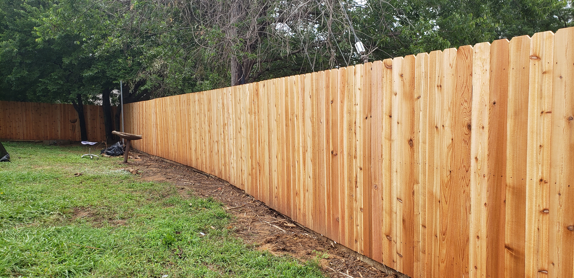 6ft Cedar wood fence installation