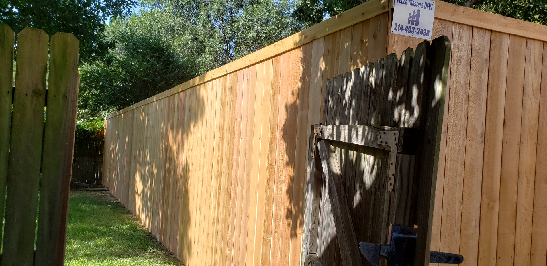 We only use the best lumber for fences we install